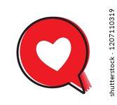 heart in a speech bubble ... | Shutterstock .eps vector #1207110319