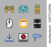 button icon set. vector set... | Shutterstock .eps vector #1207111096