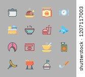 cuisine icon set. vector set... | Shutterstock .eps vector #1207117003