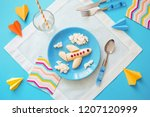 fun food idea for kids.... | Shutterstock . vector #1207120999