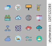 structure icon set. vector set... | Shutterstock .eps vector #1207122283