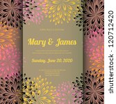 wedding card or invitation with ... | Shutterstock .eps vector #120712420
