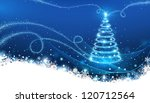 magic christmas tree | Shutterstock .eps vector #120712564
