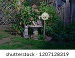 halloween scene at night  a... | Shutterstock . vector #1207128319