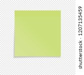 green sticky note isolated on a ... | Shutterstock .eps vector #1207135459