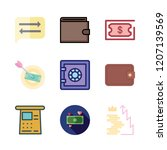 currency icon set. vector set... | Shutterstock .eps vector #1207139569