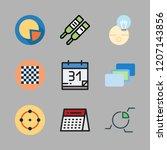planning icon set. vector set... | Shutterstock .eps vector #1207143856