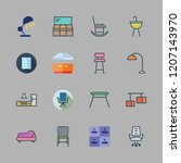 furniture icon set. vector set... | Shutterstock .eps vector #1207143970