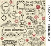 vector vintage holiday floral ...