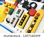 push button control panels for... | Shutterstock . vector #1207160359