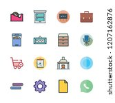 empty icon set. vector set... | Shutterstock .eps vector #1207162876