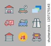 perspective icon set. vector... | Shutterstock .eps vector #1207175143