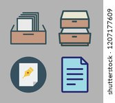 cabinet icon set. vector set... | Shutterstock .eps vector #1207177609