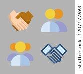 union icon set. vector set... | Shutterstock .eps vector #1207177693