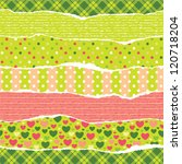torn wrapping paper with... | Shutterstock .eps vector #120718204