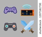 controller icon set. vector set ... | Shutterstock .eps vector #1207182730