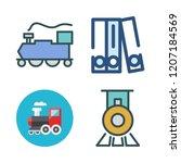 carriage icon set. vector set...   Shutterstock .eps vector #1207184569