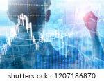 forex trading  financial market ... | Shutterstock . vector #1207186870