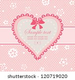 arrival pink card | Shutterstock .eps vector #120719020
