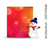 blank gift tag with snowman and ... | Shutterstock .eps vector #120719668