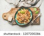 italian traditional pasta...   Shutterstock . vector #1207200286