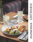 breakfast is in a cafe   Shutterstock . vector #1207201813