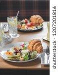 breakfast is in a cafe   Shutterstock . vector #1207201816
