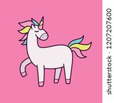 vector illustration of cute... | Shutterstock .eps vector #1207207600