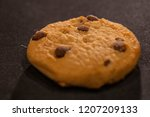 chocolate chip cookie close up... | Shutterstock . vector #1207209133