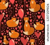 vector seamless kids pattern... | Shutterstock .eps vector #1207209826