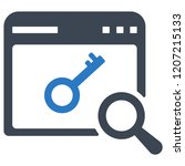 keyword research icon   Shutterstock .eps vector #1207215133
