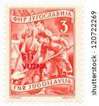 yugoslavia   circa 1952  a...   Shutterstock . vector #120722269