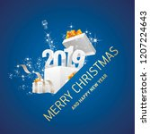 merry christmas and happy new... | Shutterstock .eps vector #1207224643