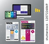 business brochure layout  vector | Shutterstock .eps vector #1207226869
