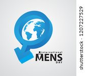 international mens day with... | Shutterstock .eps vector #1207227529