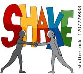 an image of a shake word two... | Shutterstock .eps vector #1207229833
