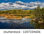 autumn at the lake   sweden ... | Shutterstock . vector #1207234606