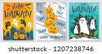 collection of halloween... | Shutterstock .eps vector #1207238746
