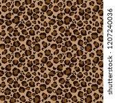 leopard print seamless pattern  ... | Shutterstock .eps vector #1207240036