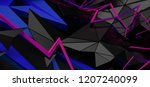abstract 3d rendering of random ... | Shutterstock . vector #1207240099