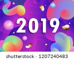 modern  happy new year card for ... | Shutterstock . vector #1207240483