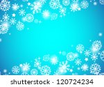christmas beautiful blue... | Shutterstock .eps vector #120724234