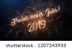 2019 happy new year greeting...   Shutterstock . vector #1207243933