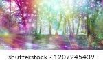 supernatural fantasy woodland... | Shutterstock . vector #1207245439