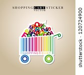abstract vector shopping cart... | Shutterstock .eps vector #120724900