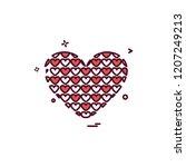 hearts icon design vector | Shutterstock .eps vector #1207249213