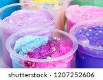 Colorful Slimes Inside Plastic...