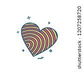 hearts icon design vector | Shutterstock .eps vector #1207258720