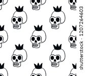 skull illustration traditional... | Shutterstock .eps vector #1207264603
