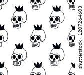 skull illustration traditional... | Shutterstock .eps vector #1207264603